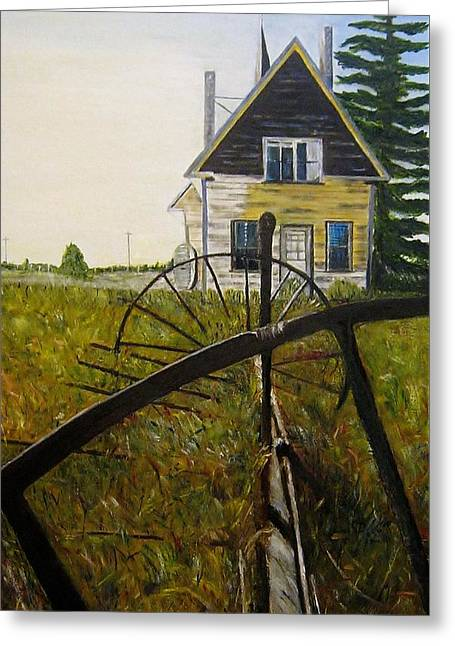Greeting Card featuring the painting Behind The Old Church by Marilyn  McNish