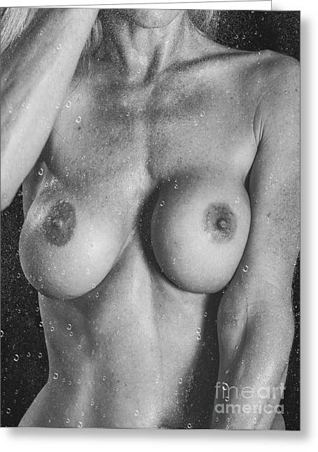 Behind Wet Glass Greeting Card by Jt PhotoDesign