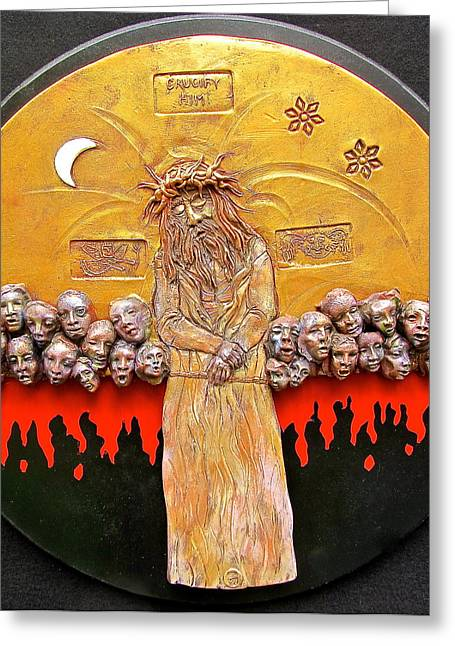 Behold The Man Greeting Card by Gary Wilson