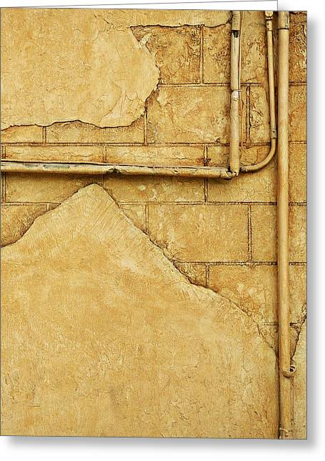 Beige Wall Greeting Card