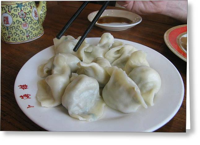 Beijing Dumplings Greeting Card by Alfred Ng
