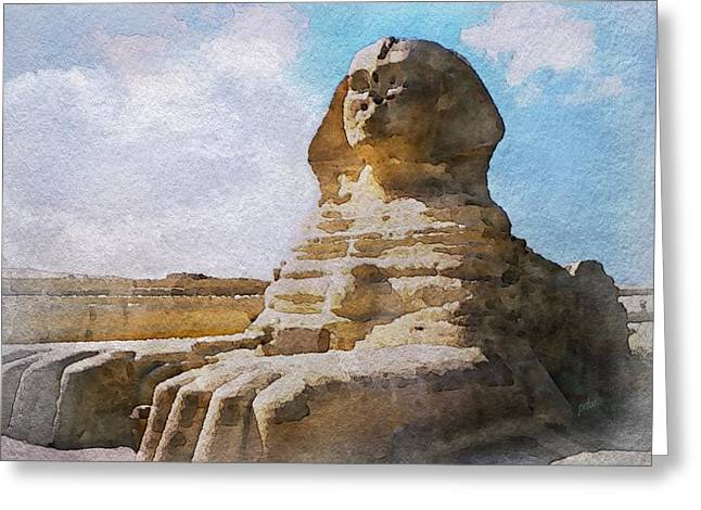 Being Ignored By The Sphinx Greeting Card by Philip White