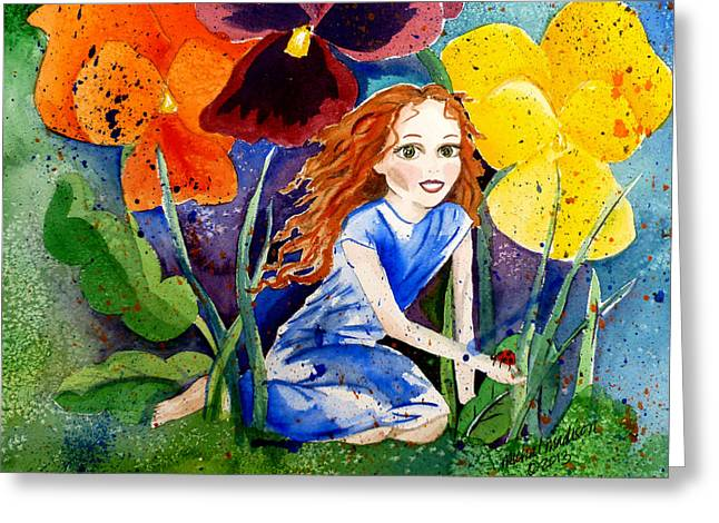 Tiny Flower Fairy Greeting Card
