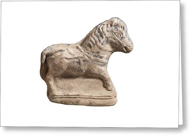 Beit Natif Type Horse Figurine Greeting Card by Science Photo Library