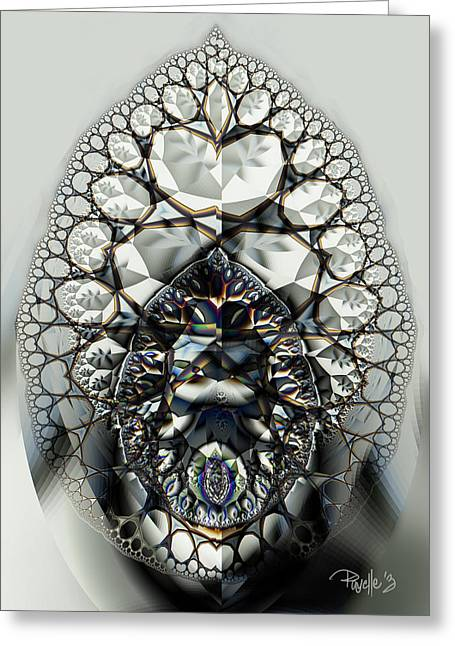 Bejeweled Greeting Card by Jim Pavelle