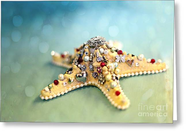 Bejeweled Starfish Greeting Card by Sylvia Cook