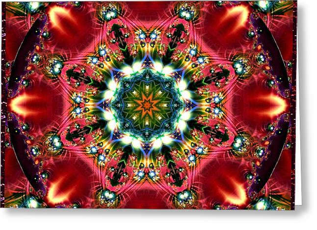 Bejewelled Mandala No 2 Greeting Card by Charmaine Zoe