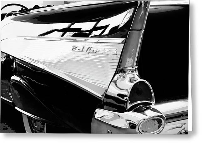 Bel Air Bw Palm Springs Greeting Card