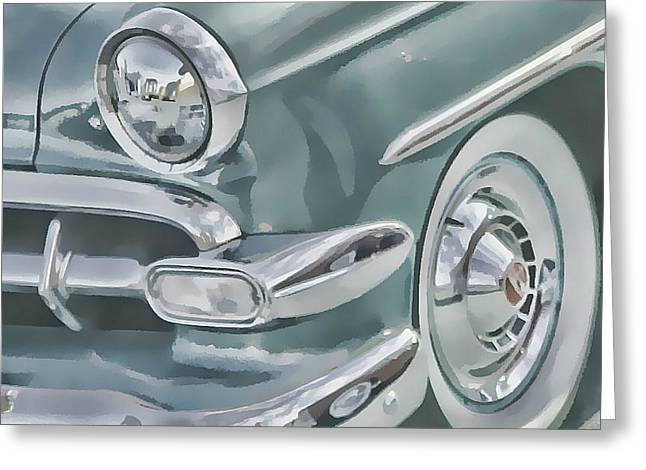 Bel Air Headlight Greeting Card by Victor Montgomery