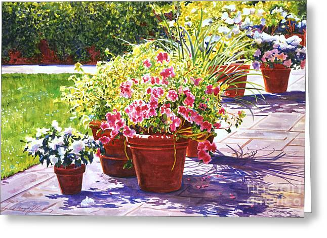 Bel-air Welcome Garden Greeting Card by David Lloyd Glover