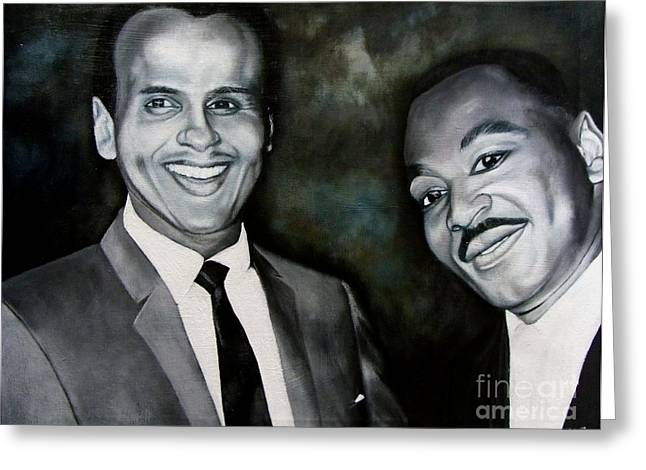 Belafonte And King Greeting Card