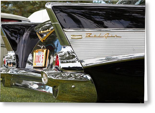 Greeting Card featuring the photograph Belair Tail Fins  by Mick Flynn