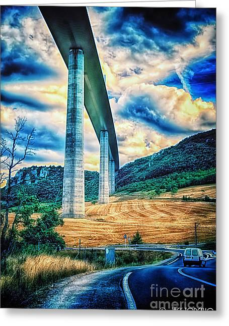 Beleau Millau Viaduct France Greeting Card