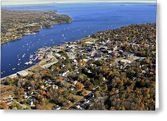 Belfast Bay And Penobscot Bay, Belfast Greeting Card by Dave Cleaveland