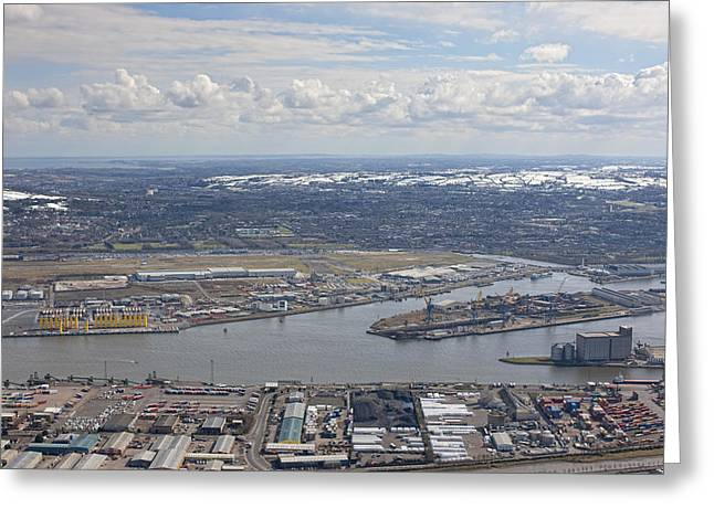 Belfast City & Docks Greeting Card by Colin Bailie