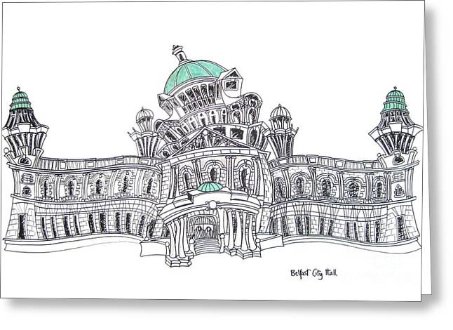 Belfast City Hall Belfast Greeting Card by Tanya Mai Johnston