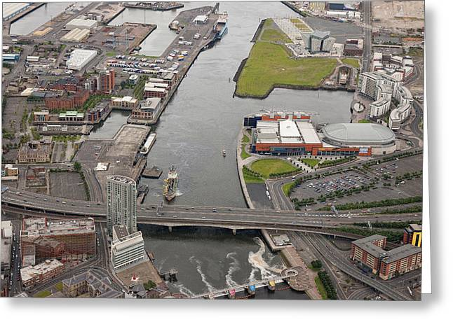 Belfast Docks, Belfast Greeting Card by Colin Bailie