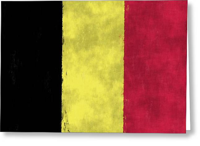 Belgium Flag Greeting Card by World Art Prints And Designs