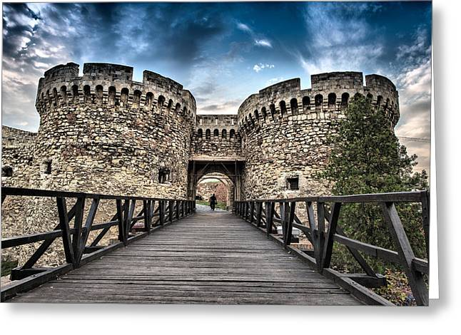 Greeting Card featuring the photograph Belgrade Castle by Okan YILMAZ
