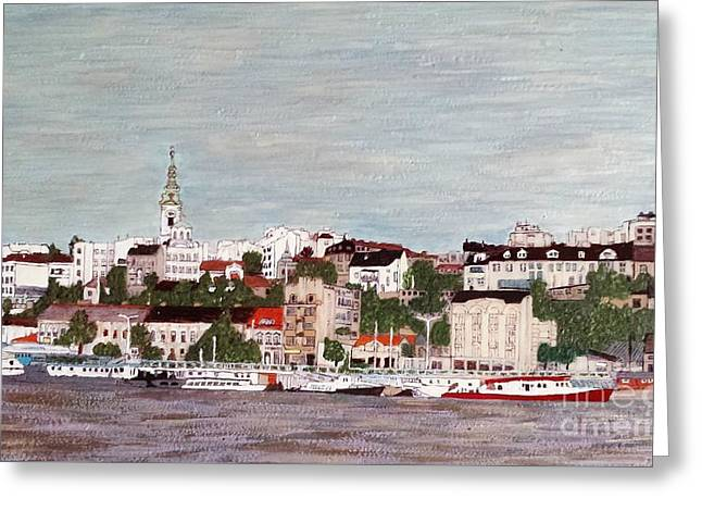 Belgrade Serbia Greeting Card by Jasna Gopic