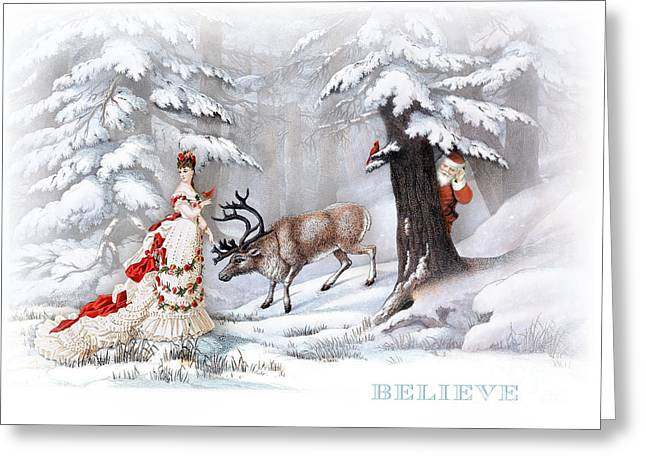 Believe Greeting Card by Cindy Garber Iverson
