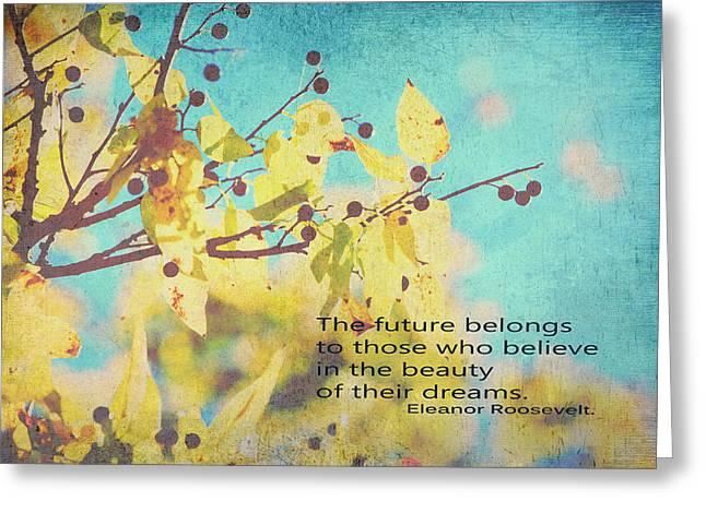 Believe In Dreams Greeting Card by Toni Hopper