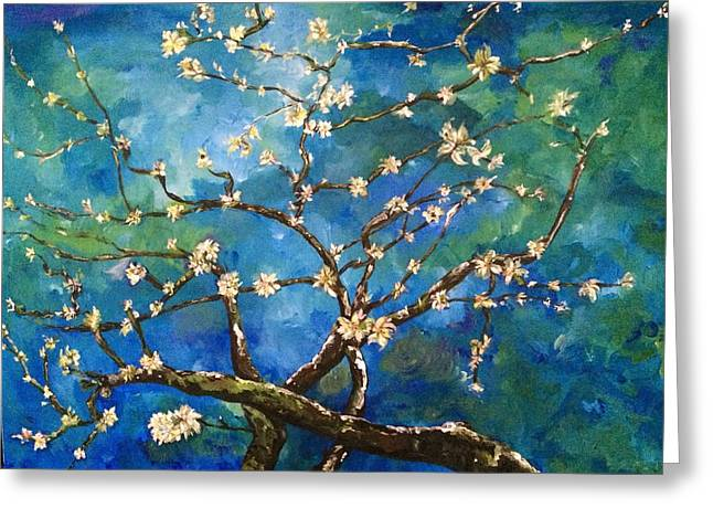 Belinda's Almond Blossoms Greeting Card
