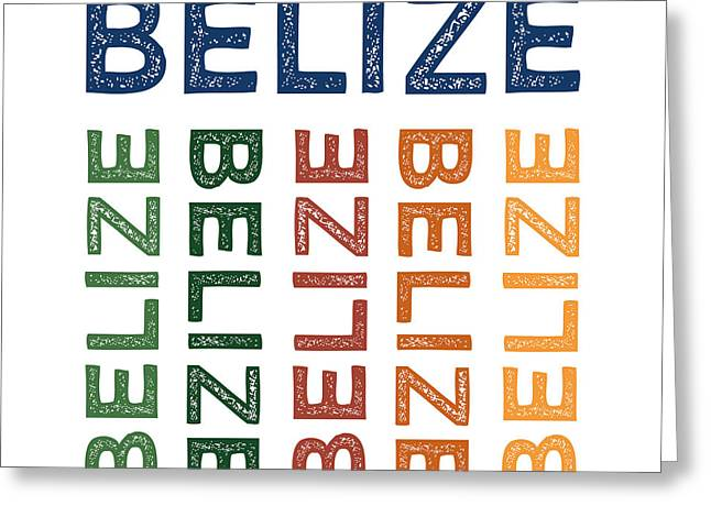 Belize Cute Colorful Greeting Card by Flo Karp
