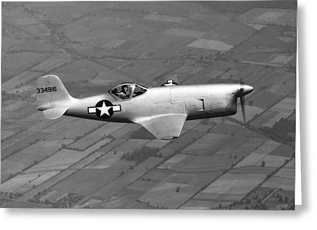 Bell Aircraft Xp-77 Greeting Card by Underwood Archives