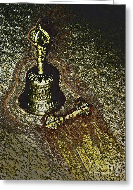 Bell And Dorje By Jrr Greeting Card