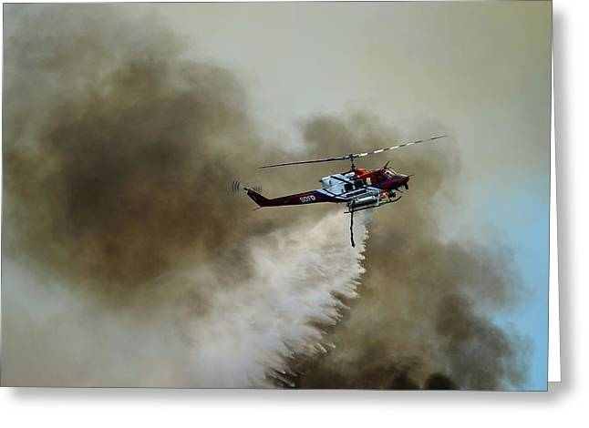 Bell Helicopter 212 Greeting Card