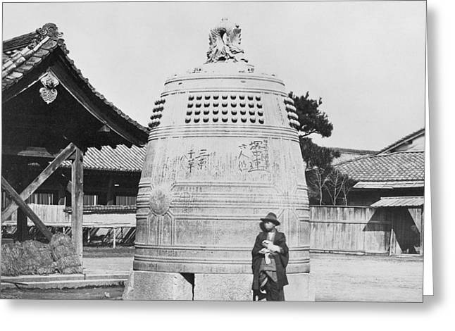 Bell Of The Great Buddha, Kyoto, Japan Greeting Card by Science Photo Library