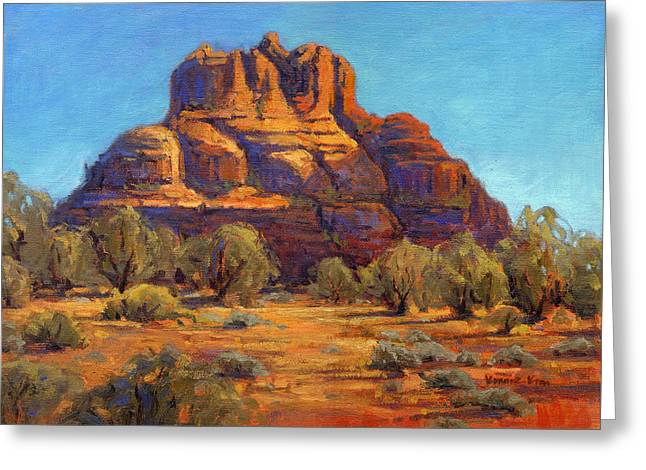 Greeting Card featuring the painting Bell Rock, Sedona Arizona by Konnie Kim