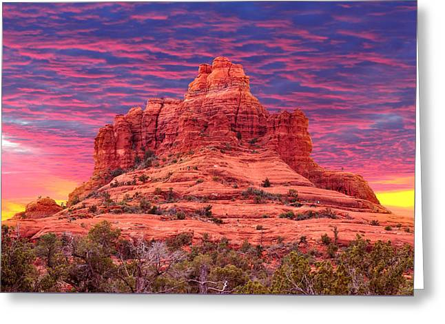 Bell Rock Sunset Greeting Card