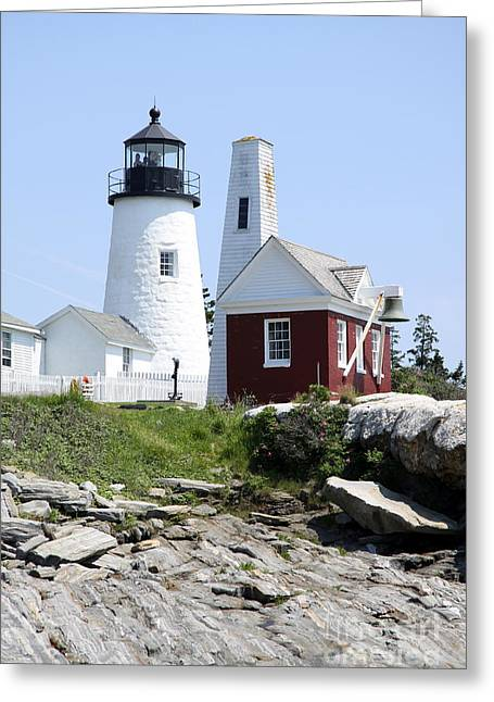 Bell Tower And Pemaquid Light Greeting Card
