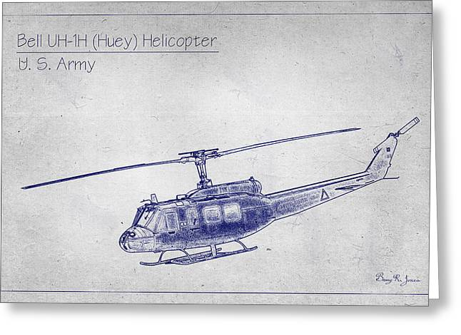 Bell Uh-1h Huey Helicopter  Greeting Card by Barry Jones