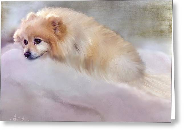 Bella Boo Greeting Card by Colleen Taylor