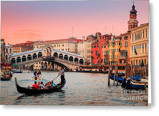 La Bella Canal Grande Greeting Card by Inge Johnsson