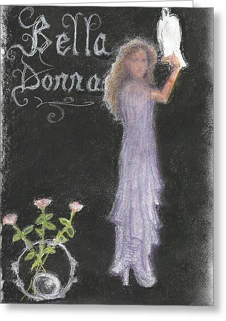 Bella Donna Greeting Card by Jami Cirotti