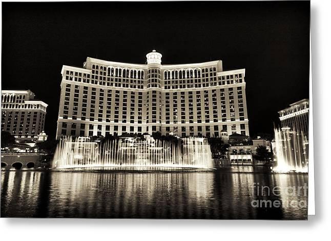 Bellagio Fountain Dance 1 Greeting Card