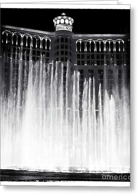 Bellagio Fountains I Greeting Card by John Rizzuto