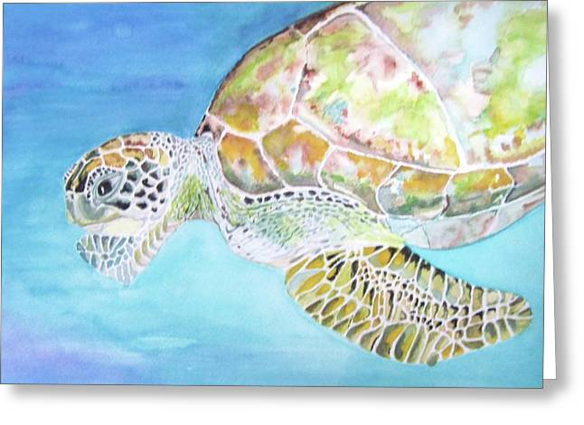 Bella's Lone Turtle Greeting Card by Viviana Ziller