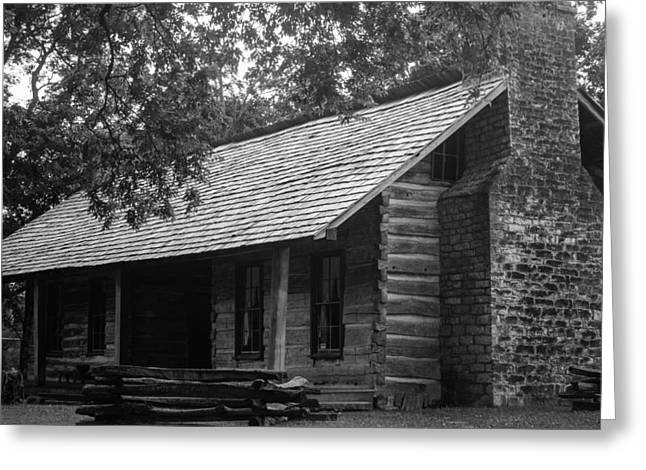 Greeting Card featuring the photograph Belle Meade Log Cabin by Robert Hebert