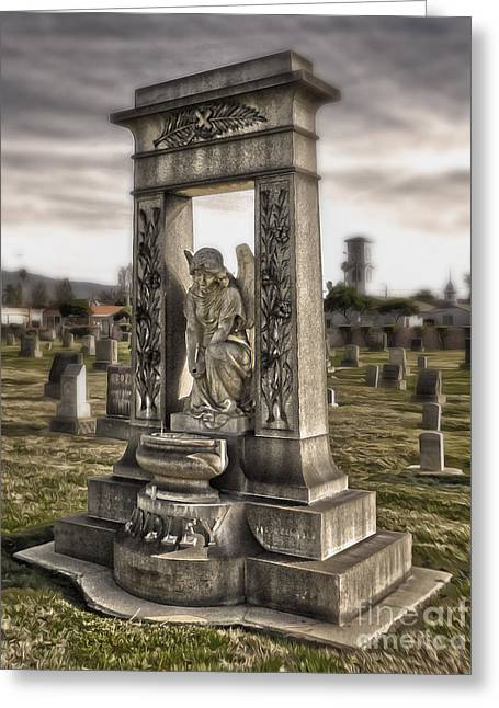 Bellevue Cemetery Crypt - 01 Greeting Card by Gregory Dyer