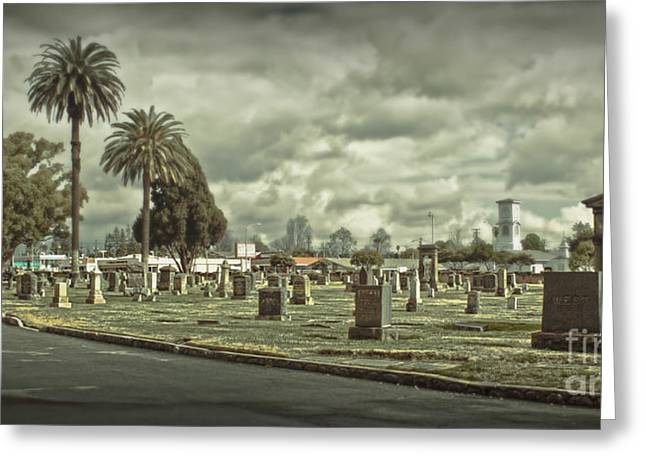 Bellevue Cemetery Crypt - 02 Greeting Card by Gregory Dyer