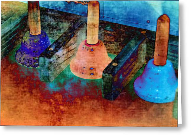 Bells Greeting Card by Jan Amiss Photography