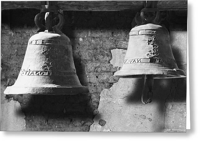 Bells Of San Juan Capistrano Greeting Card by Larry Butterworth