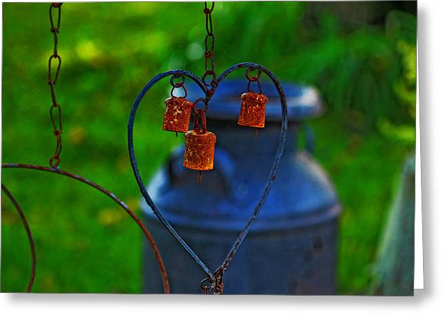 Bells Greeting Card by Rowana Ray
