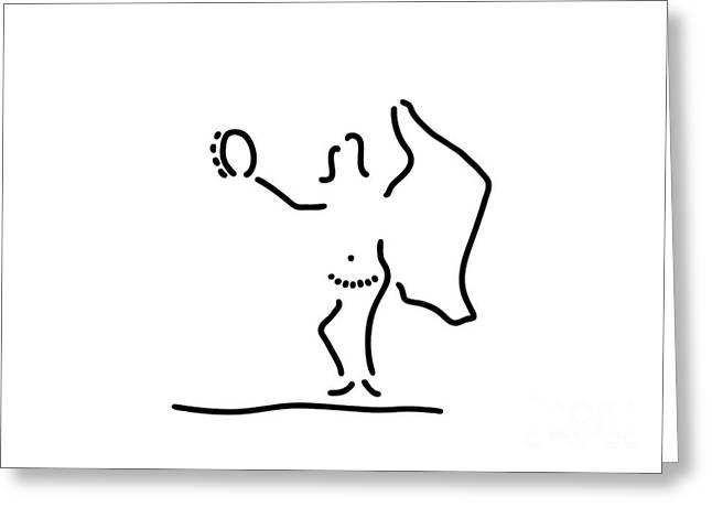 belly dance dancer East Greeting Card