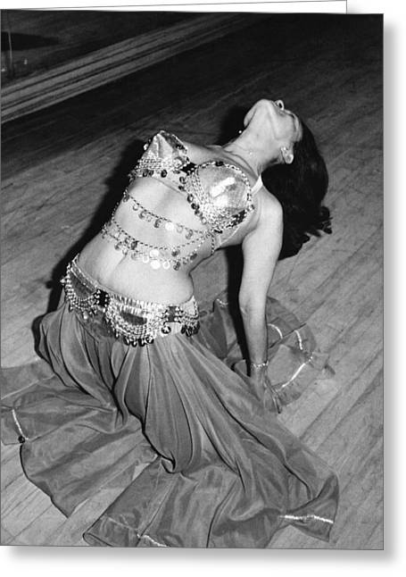 Belly Dancing School Student Greeting Card by Underwood Archives